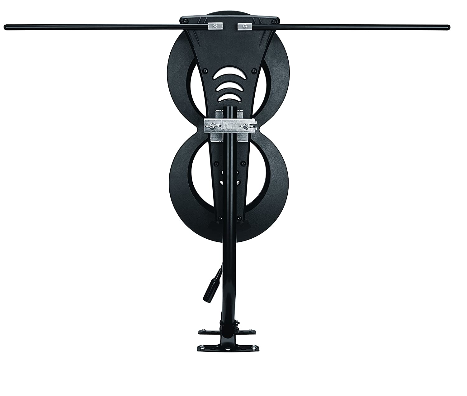ClearStream 2MAX TV Antenna, 60+ Mile Range, Multi-directional, Indoor,  Attic, Outdoor, 20-inch Mast with Pivoting Base, All-Weather Mounting