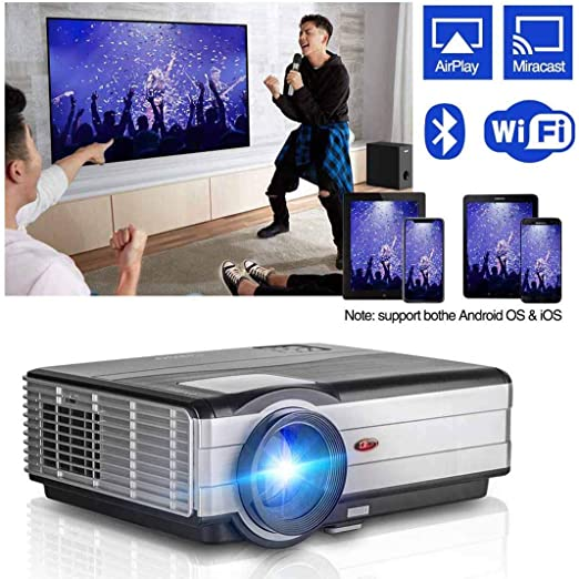 Ai LIFE Proyector Proyector inalámbrico Bluetooth WiFi HDMI 8200 lúmenes 1080P Smart Multimedia Home Theater Cinema LCD LED Video Proyector Proyector al Aire Libre para TV Stick PC Laptop USB PS4: Amazon.es: