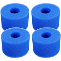 JKKJ 4 STKS Zwembad Filter Cartridge, Herbruikbare Wasbare Hot Tub Filter Schuim voor Intex Pure Spa, S1 Type, 2.3x4x4.3…