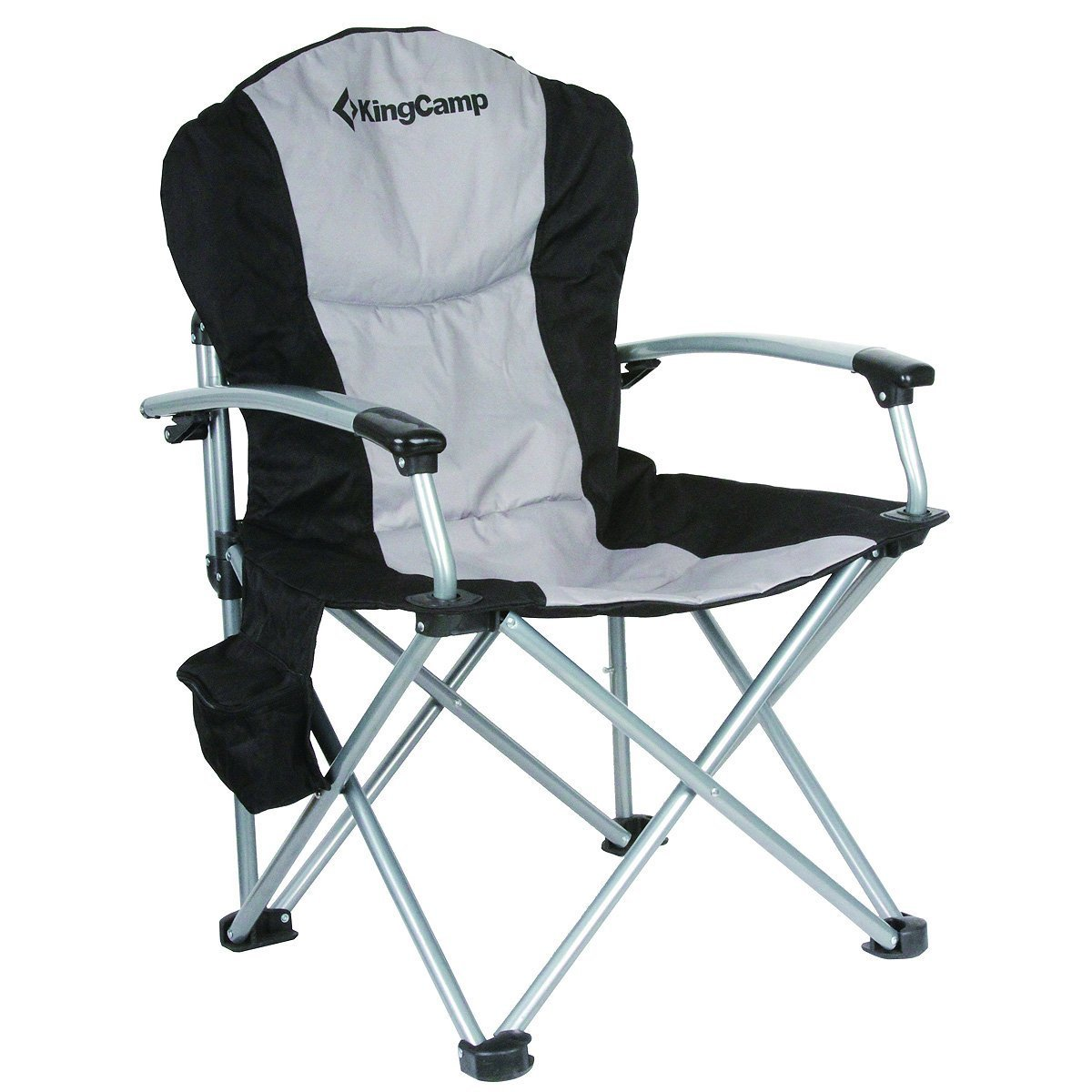 Kingcamp Heavy Duty Hard Arm Padded Steel Folding Chair