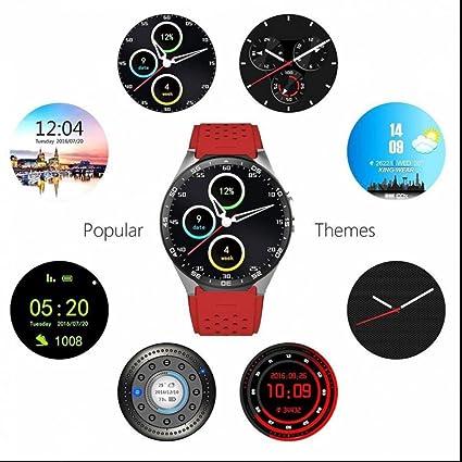 Smart Watch,Inteligentes Reloj Inteligente Bluetooth con Alarma Sedentaria/Monitor de Calorías/Análisis