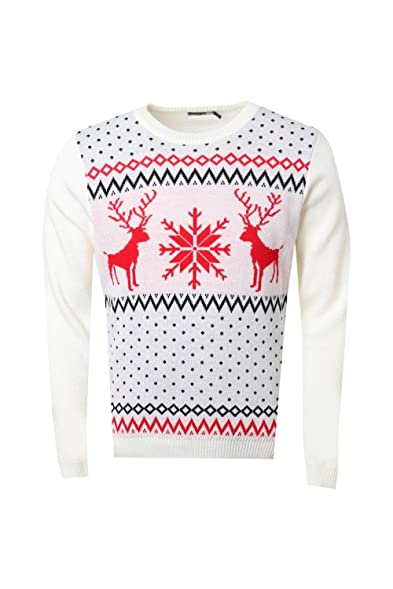 Boohoo Mens Snowflake Fairisle Christmas Jumper at Amazon Men's ...