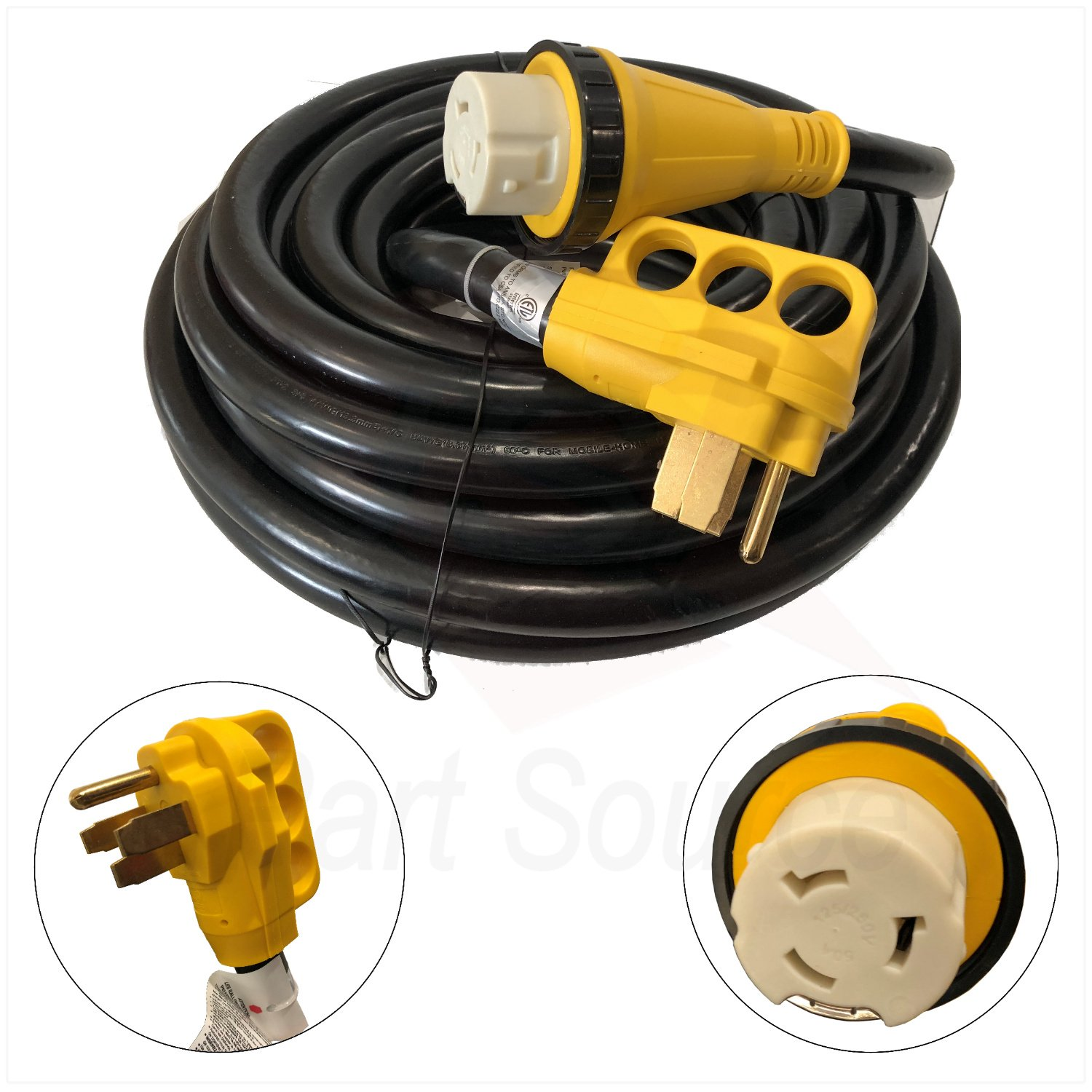 New 50 Foot 50A RV Extension Cord Adapter Shore Power NEMA 14-50P to SS2-50R EnergyPlug