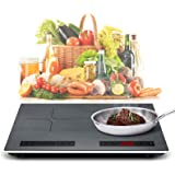 Portable Double Induction Cooktop 2000W 120V Energy-saving Electric Cooktop withl Sensor Touch Screen Control and Kids Safety