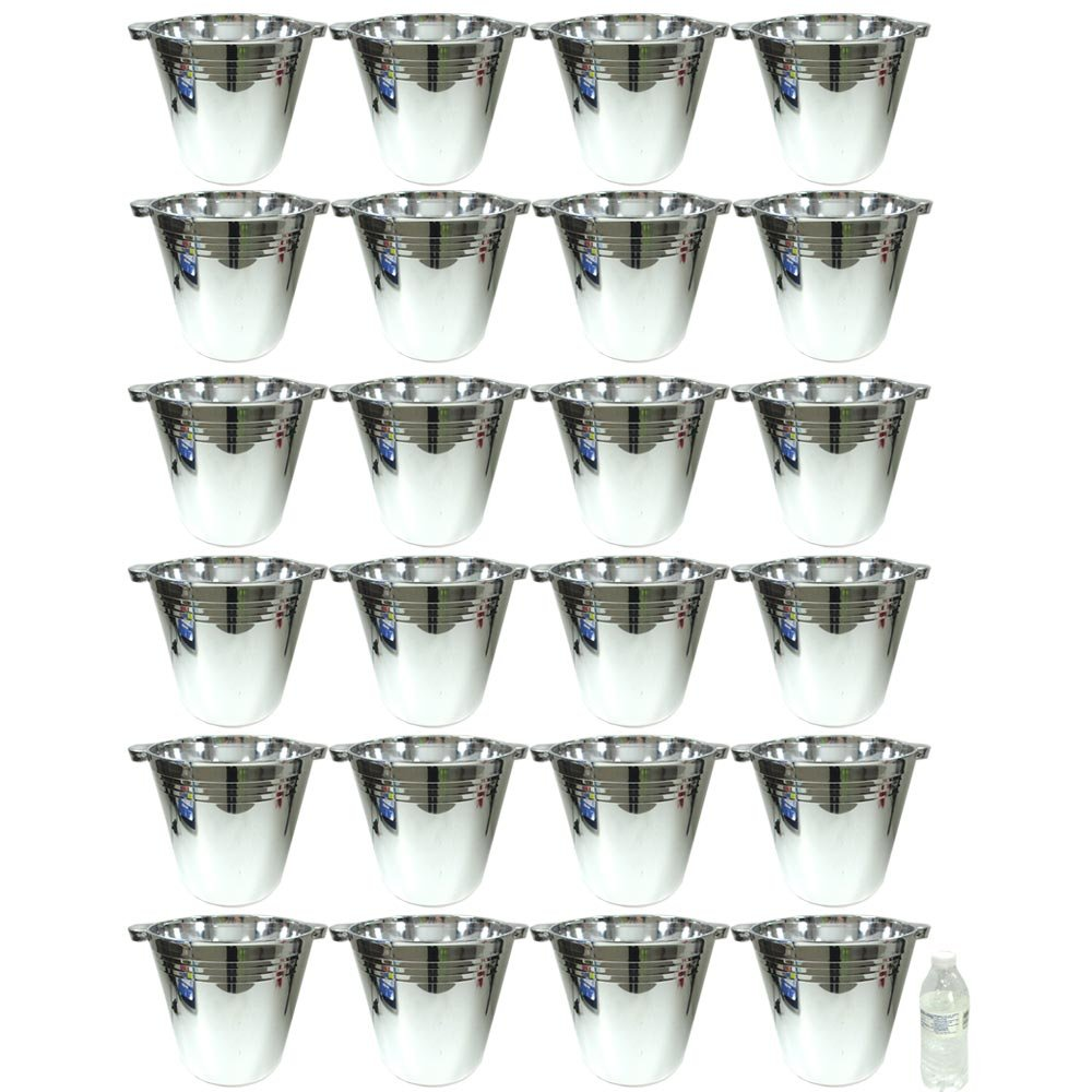 24 Plastic Reusable Ice Buckets 5.9L Tubs Cooler Wine Champagne Bar Beer Chiller