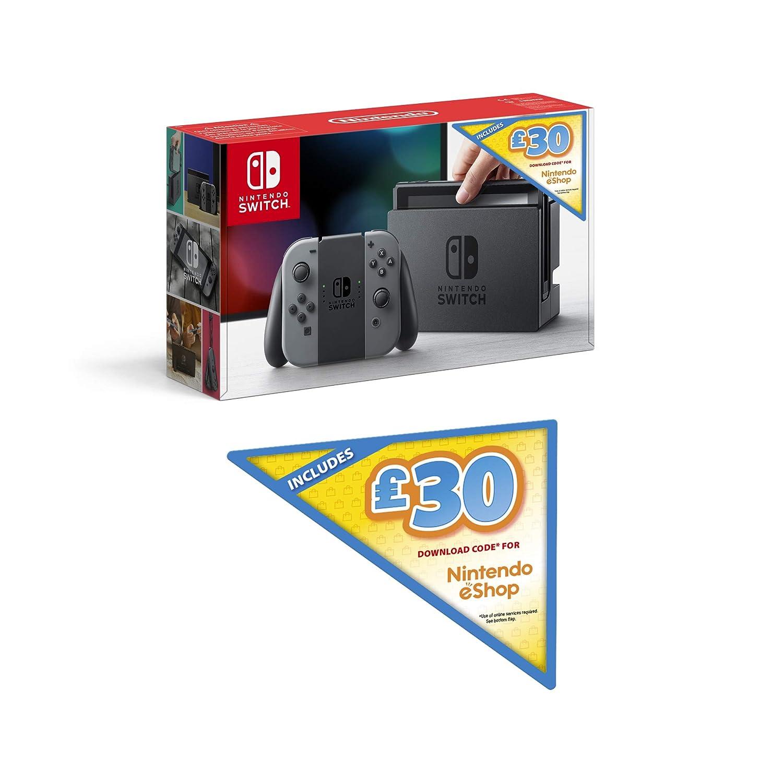 Nintendo Switch (Grey) + £30 Nintendo eShop Voucher ...