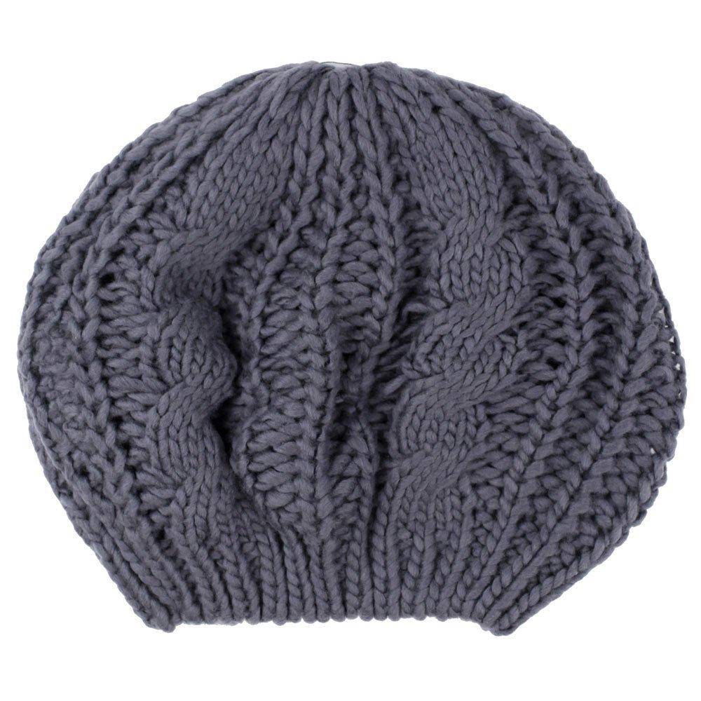Damen-Skimütze, gestrickt, warm, Grau