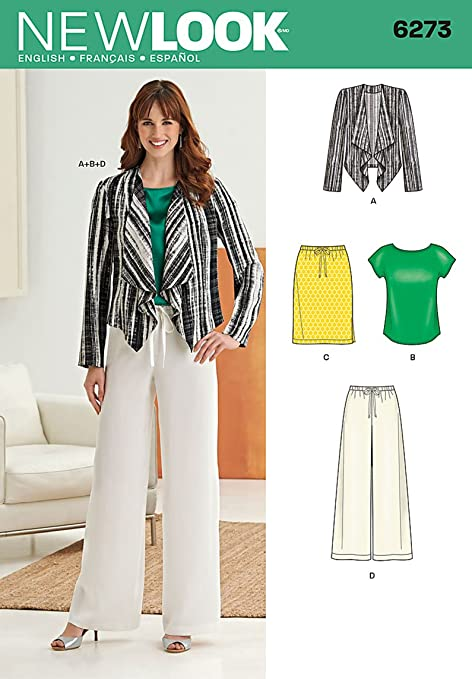 available customers first ever popular New Look Sewing Pattern 6273 - Smart & Casual Wear Sizes ...