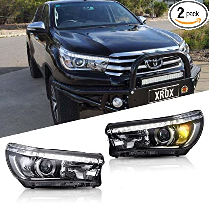 Amazoncom LED Headlight For Toyota Hilux VIGO Hilux Revo - 2018 acura tsx headlights