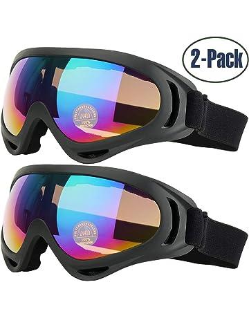 COOLOO Lunettes de Ski, Lot de 2 Masques Snowboard de Protection avec UV  400, 3e32b16e0ff5