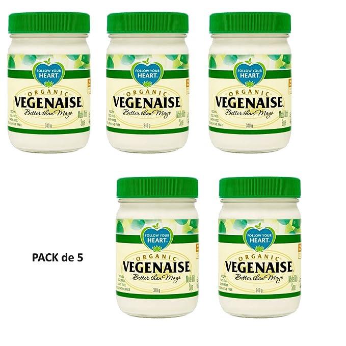 Follow Your Heart Mayonesa Orgánica Vegenaise 340g Pack de 5