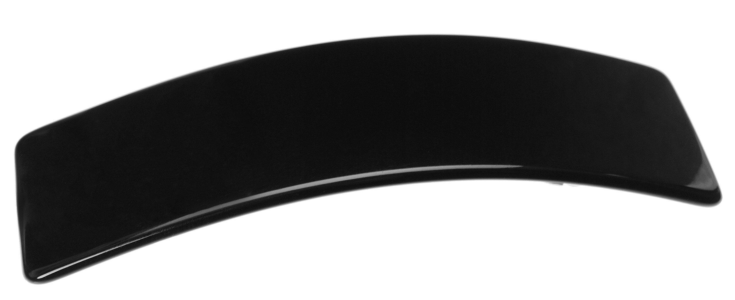 France Luxe Large Rectangle Barrette - Black
