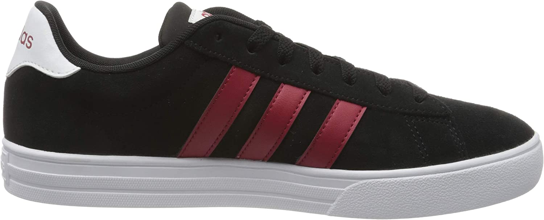 Adidas Herren Daily 2.0 Sneaker Core Black Active Maroon Ftwr White