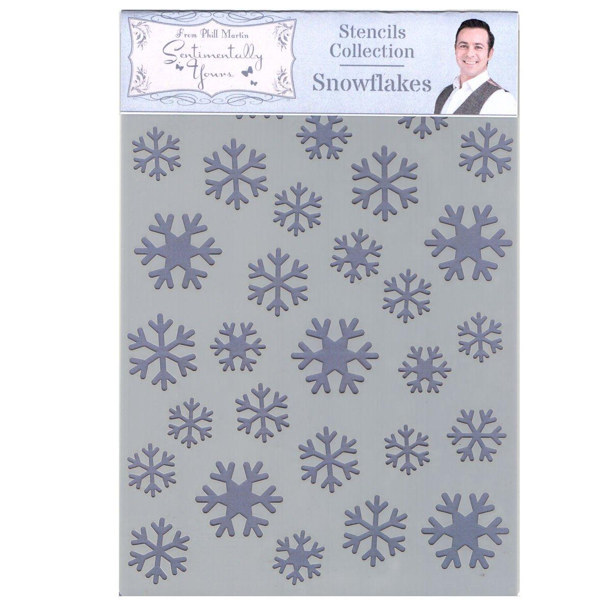 Phill Martin Sentimentally Yours festive Collection A5/stencil/ /fiocchi di neve