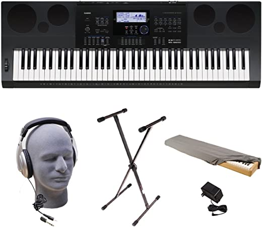 Casio WK-6600 PPK 76-Key Premium Keyboard Pack with Stand ...