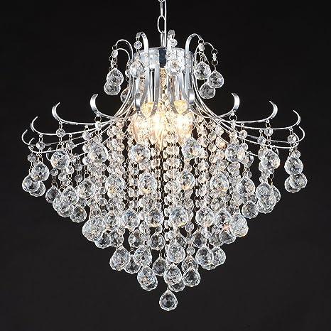 wotefusi - Lámpara de techo de vidrio LED de techo lámparas de araña ...