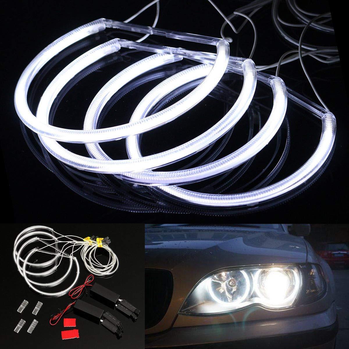 Sunsbell CCFL Car Angel Eagle Eyes Light Tube Headlight White Headlamp for E36 3 E38 7 E39 5 E46 4 pcs