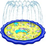 "Holiky Sprinkler for Kids, Upgraded 68"" Pool Toys for Kids 3-10, Toddlers Water Toys Splash Pad Mat, Toys for 3 4 5 6 7…"