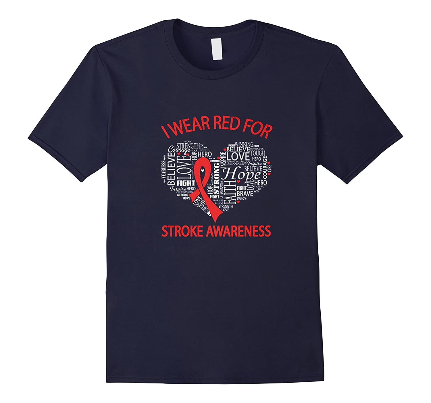 I Wear Red For Stroke Awareness T-shirt-Vaci
