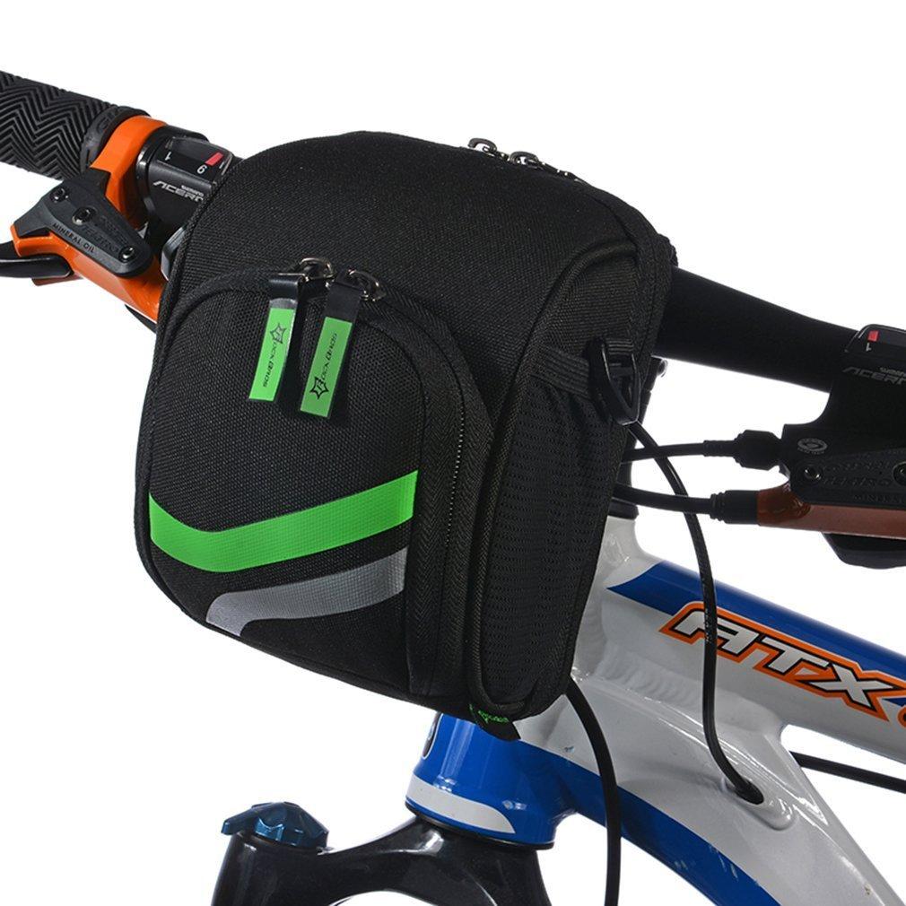 RockBros Mountain Bike Handlebar Bag Road Bicycle Multi-Purpose Basket Bag With Crossbody Belt
