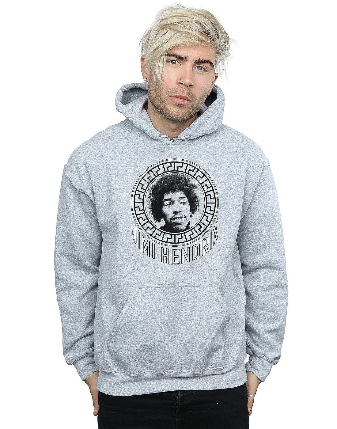 Absolute Cult Jimi Hendrix Herren Pattern Circle Kapuzenpullover