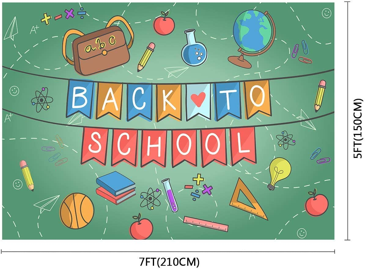 10x8ft Back to School Background Students Knowledge Classroom Photography Booth Backdrop Photo Props DSFU037