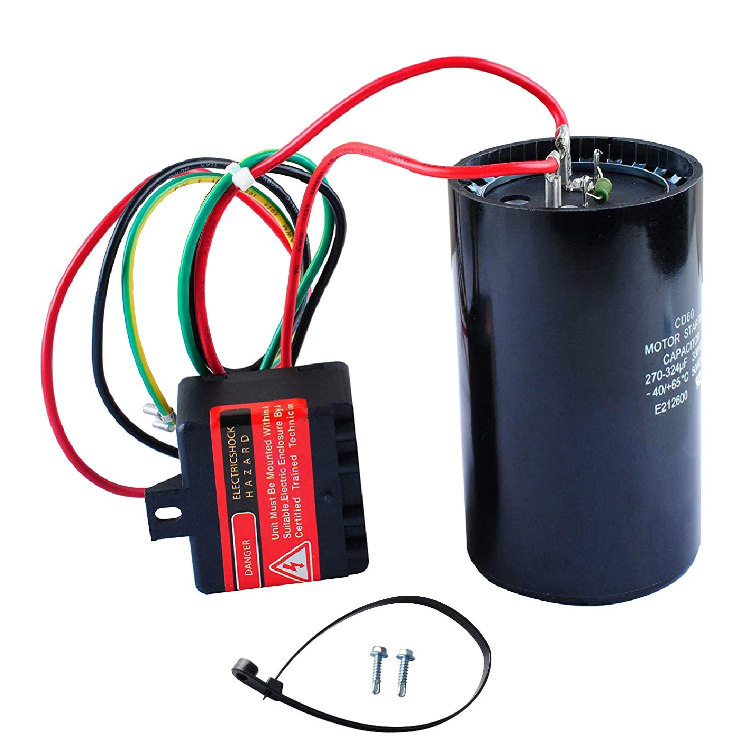5-2-1 CSR-U3 Compressor Saver AC Hard Start Capacitor by Blue Stars Hvac Hard Start Kit Compatible for 4 to 5 Ton Units