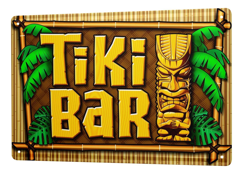 Nostalgic Tin Sign Tiki bar 8X12 leotie fashion&lifestyle