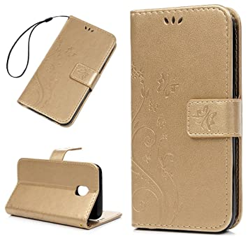 best service 88c8b 29f46 For Samsung Galaxy J3 2017 Case, Badalink Samsung J3 2017 Cover PU Leather  Case Embossed Butterfly Case Cover Flip Wallet Case for Samsung Galaxy J3  ...