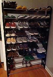 Amazon Com Oxgord 50 Pair Shoe Rack Storage Organizer 10