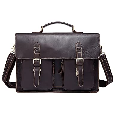Amazon.com | Best Mens Cowhide Genuine Leather Business Briefcases ...