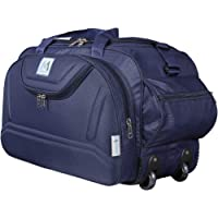 M MEDLER Nylon Expandable Duffel Strolley Bag (Navy)