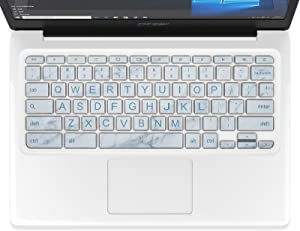 Keyboard Cover Compatible with Acer Chromebook Spin 11 311 CP311 CB311 R 11, Acer Chromebook Spin 13 CP713 R 13 CB5-312T, Acer Chromebook 14 314 514, Acer Chromebook 15 CB3-531 CB3-532(White Marble)