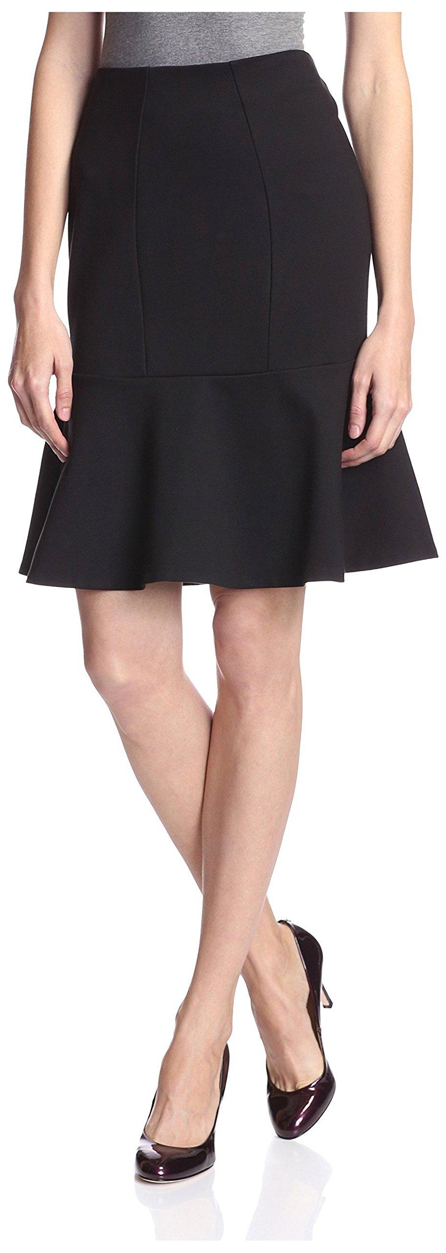 SOCIETY NEW YORK Women's Peplum Skirt, Black, S
