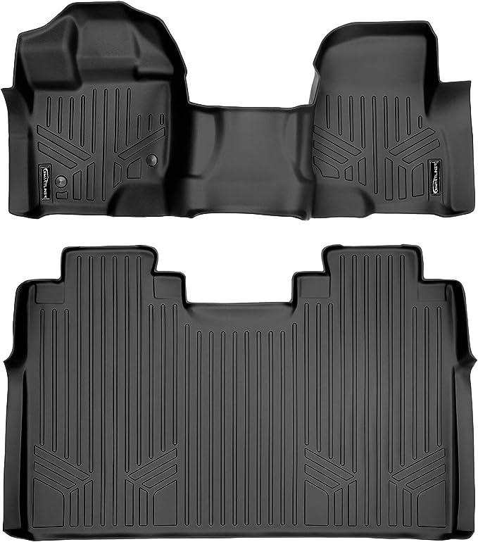 CFMBX1MR7095 Coverking Custom Fit Front and Rear Floor Mats for Select Mercury Bobcat Models Nylon Carpet Black
