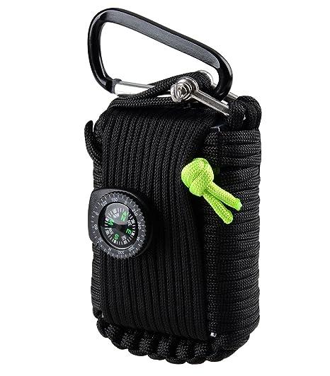 Kit de supervivencia de emergencia de 29elementos que incluye linterna, brújula