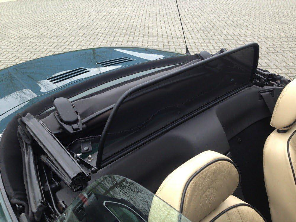 Draft-stop Aperta Black wind deflector compatible with MG MGF,TF MGF Tailor made windblocker Windstopper MG convertible