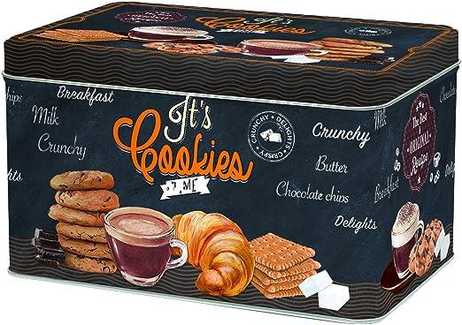 R2S 080ICOT Cookies Time - Caja de Galletas (Metal, 22 x 14 x 13 ...