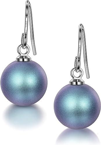 J. RENEÉ Pendientes Perlas Mujer, Plata de Ley 925, Perlas de SWAROVSKI, Joyas para Mujer, Pendientes Mujer, Regalos para Mujer