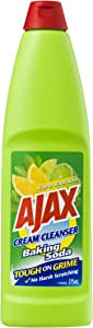 Ajax Cream Cleanser Tough on Grime Kitchen and Bathroom Household Cleaner Baking Soda and Citrus Extracts Made in Australia 375mL