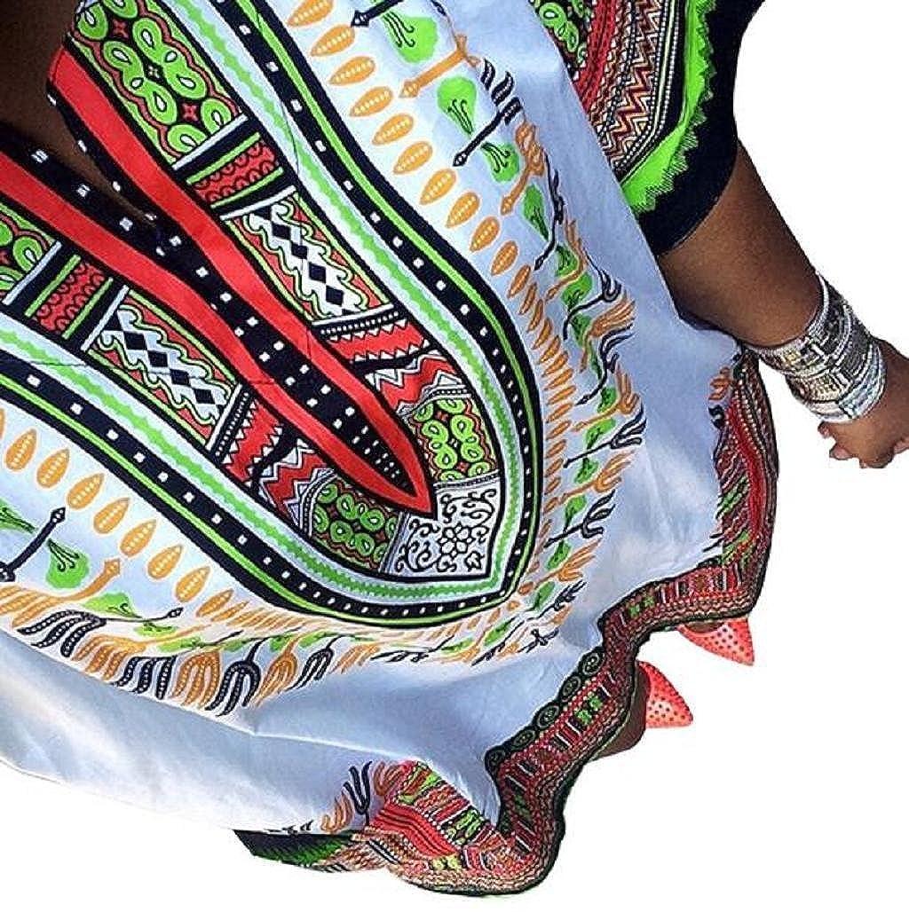 Imprimir Tradicional Africana Sannysis Vestido para Mujer Vestido Fiesta Vestido Kimono Vestido Largo
