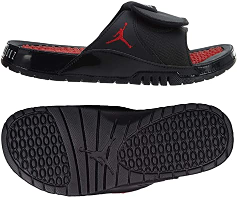 Nike Air Jordan Hydro XI 11 Bred AA1336-001 Black//University Red Men/'s Slides