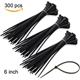 100 Pack 6 Inch 2.5 mm Self-locking Nylon Cable Ties Zip Ties Plastic Straps
