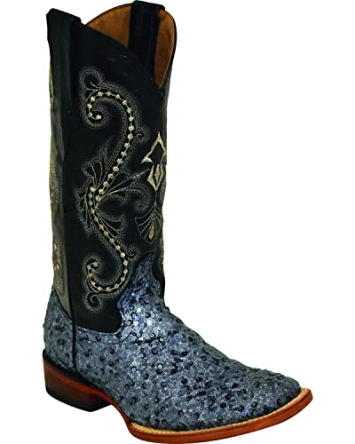 a64253f1c19 Amazon.com | Ferrini Women's Sparkle Slate Sequin Cowgirl Boot ...