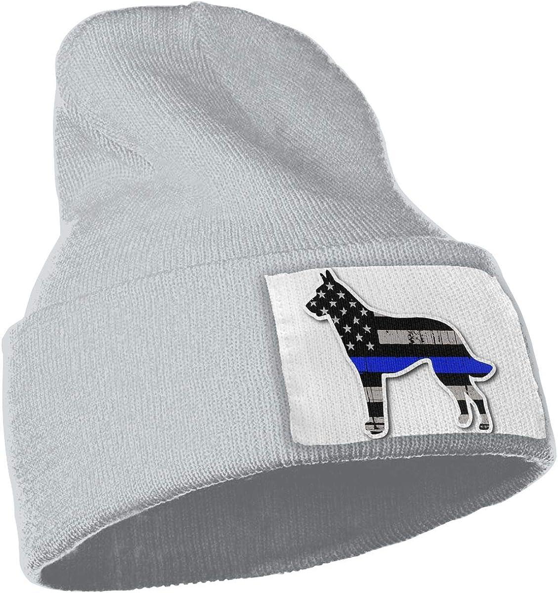 QZqDQ Blue Line K9 Dog Unisex Fashion Knitted Hat Luxury Hip-Hop Cap