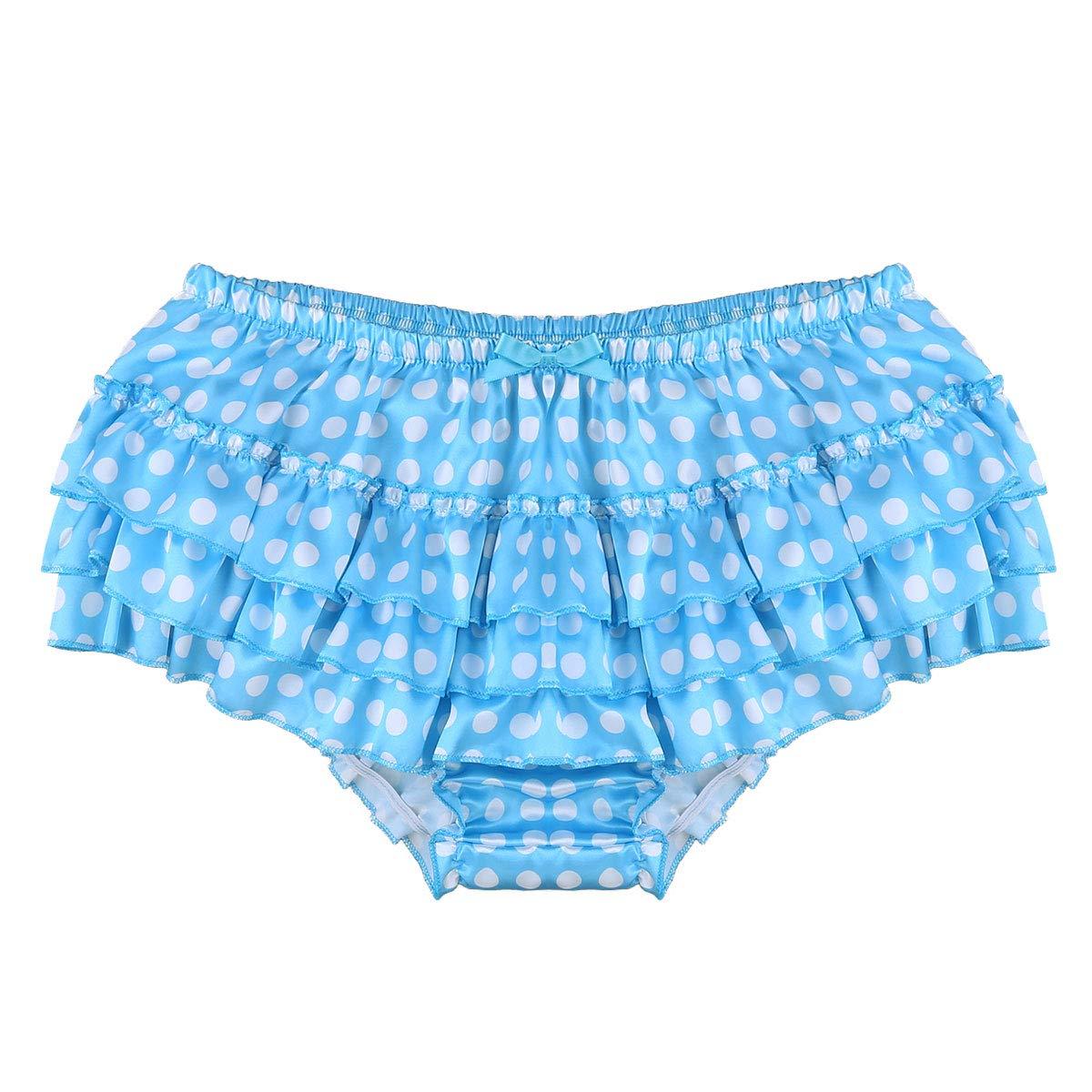 f36bdba7b iiniim Mens Sexy Lingerie Satin Ruffle Skirted Sissy Panties Briefs  Underwear