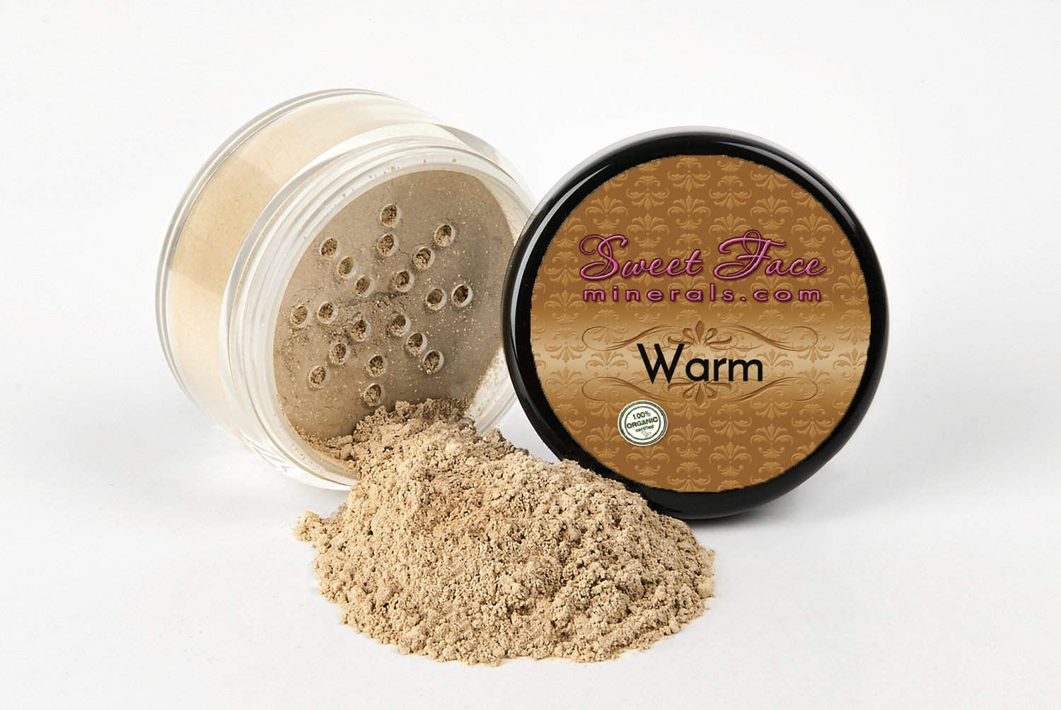 WARM (Neutral-Most Popular) FOUNDATION Mineral Makeup (5 gram Sample Size Jar) Matte Loose Powder Bare Face Cosmetics Full Coverage Long Lasting All Skin Types SPF 18