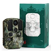 WiFi Trail Camera, COOAU 24MP 1296P Hunting Game Trail Cam with No Glow Night Vision Motion Activated IP66 Waterproof and 940nm IR LEDs for Outdoor Wildlife Monitoring and Home Security