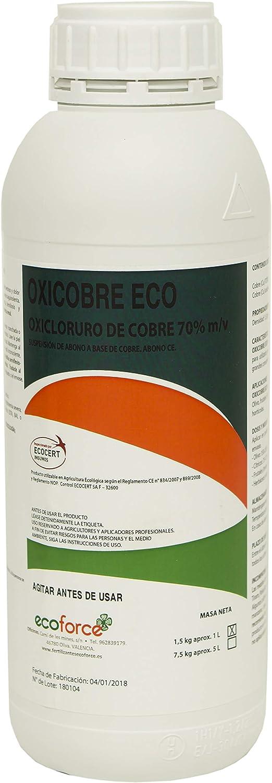 CULTIVERS Oxicobre-Eco de de 1 L. Oxicloruro de Cobre al 70% ecológico. Es una fuente de Cobre para todo tipo de plantas. Precio directo de fabrica