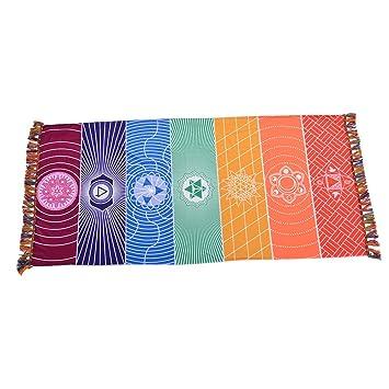 laamei Tapiz de Arcoíris Mandala Manta de Playa Esterilla de Yoga Tapiz Colgante de Pared Decorativo Toalla de Arco Iris(59.1x29.5 Pulgada) (Multi): ...